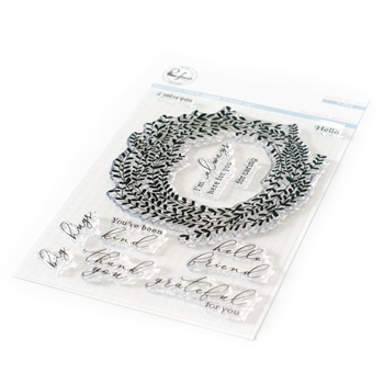 Pinkfresh Studio DELICATE WREATH Clear Stamp Set pfcs2519