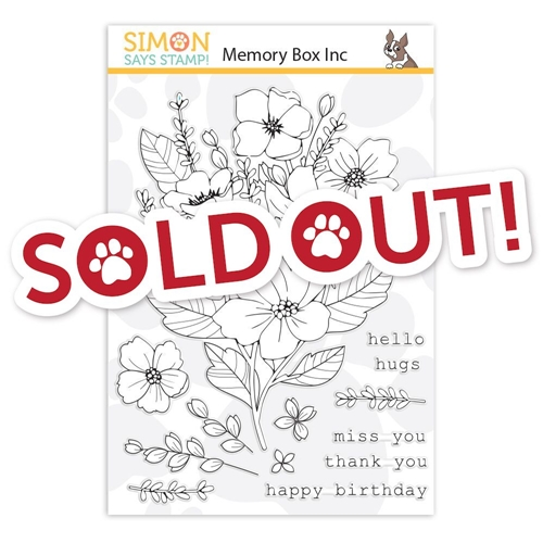 Memory Box Clear Stamps FRESH CUT BOUQUET STAMPtember 2019 Exclusive Preview Image
