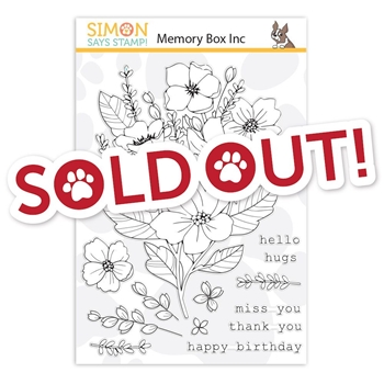 Memory Box Clear Stamps FRESH CUT BOUQUET STAMPtember 2019 Exclusive