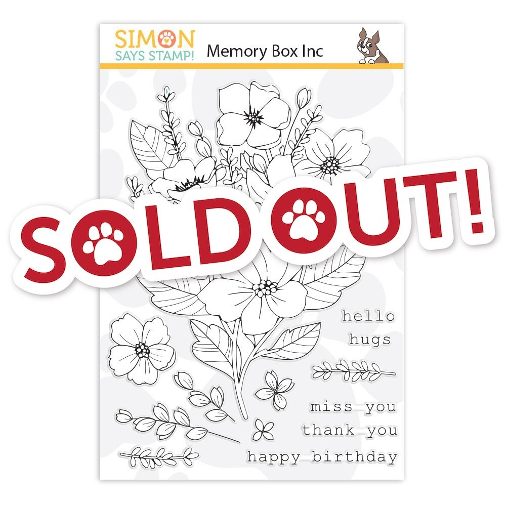 Memory Box Clear Stamps FRESH CUT BOUQUET STAMPtember 2019 Exclusive zoom image