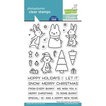 Lawn Fawn Clear Stamps SNOW BUNNIES STAMPtember 2019 Exclusive