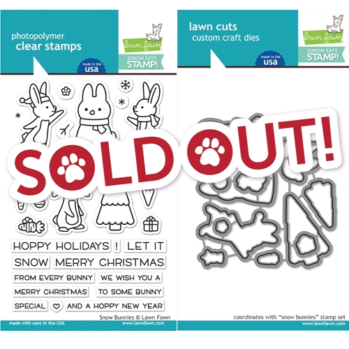 Lawn Fawn SNOW BUNNIES Clear Stamps and Dies STAMPtember 2019 Exclusive Preview Image