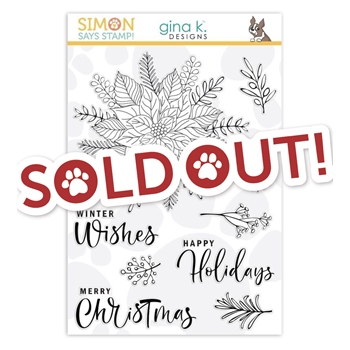 Gina K Designs Clear Stamps Festive Flower STAMPtember 2019 Exclusive