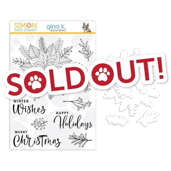 Gina K Designs Clear Stamps and Dies Festive Flower STAMPtember 2019 Exclusive