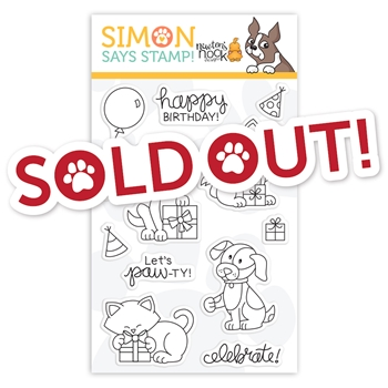 Newton's Nook Clear Stamps Let's Pawty STAMPtember 2019 Exclusive
