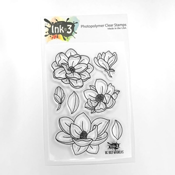 Inkon3 BIG BOLD MAGNOLIAS Clear Stamps 04043