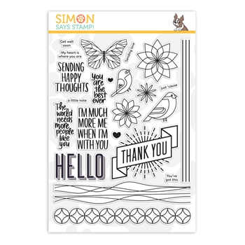 Simon Says Clear Stamps HAPPY THOUGHTS sss201903 Stamptember 2019