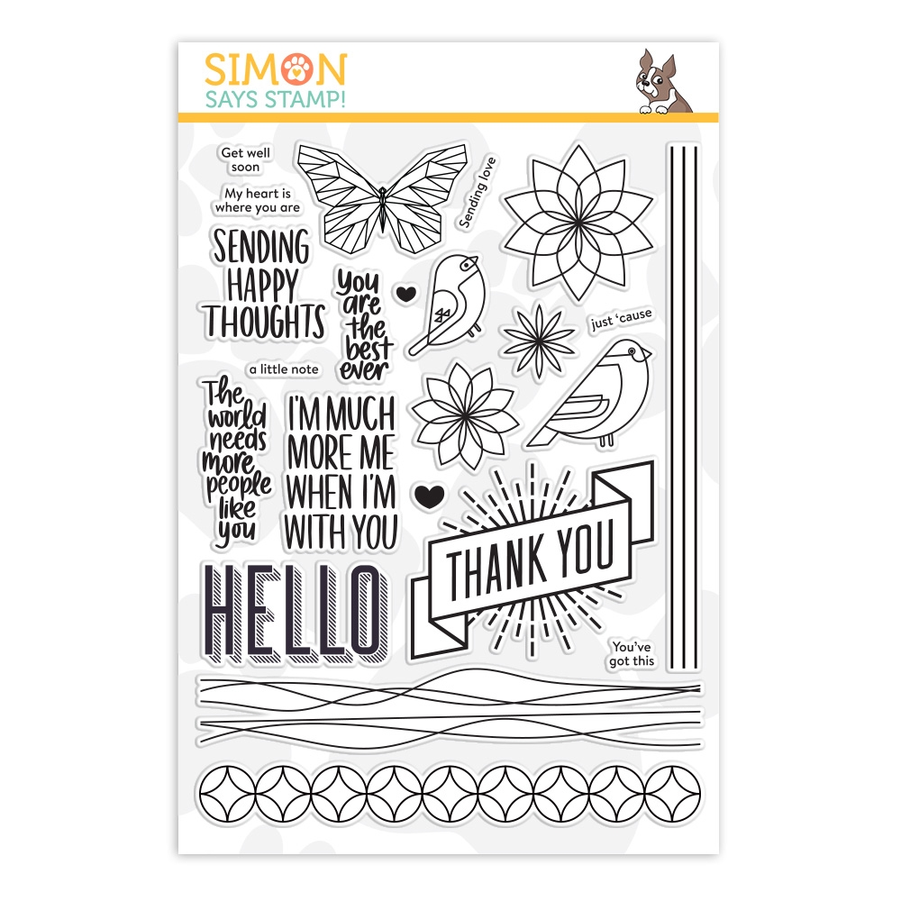 Simon Says Clear Stamps HAPPY THOUGHTS sss201903 Stamptember 2019 zoom image