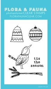 Flora and Fauna MINI TIS THE SEASON AVIARY Clear Stamps 20271