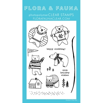 Flora and Fauna POLAR BEAR FUN Clear Stamps 20264