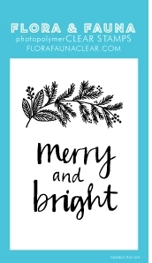 Flora and Fauna MINI MERRY AND BRIGHT Clear Stamps 20272