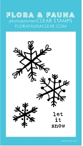 Flora and Fauna MINI SNOWFLAKES Clear Stamps 20273