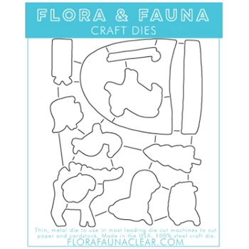 Flora and Fauna SNOW MUCH FUN Dies 30122
