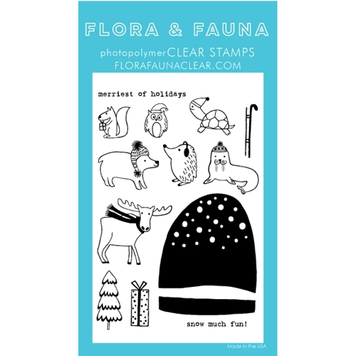 Flora and Fauna SNOW MUCH FUN SNOW GLOBE Clear Stamps 20268 Preview Image