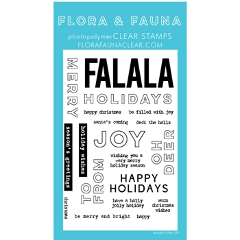 Flora and Fauna HOLIDAY WORD PARTY 2 Clear Stamps 20263