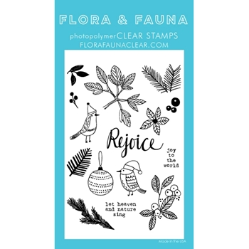 Flora and Fauna GREENERY AVIARY Clear Stamps 20267