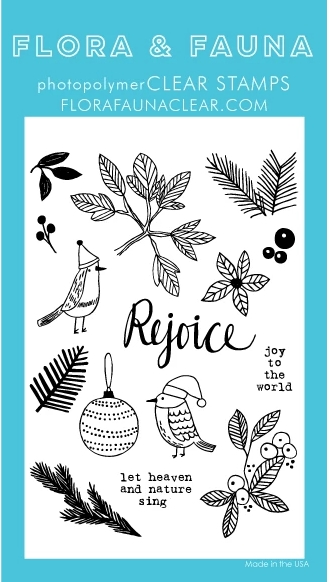 Flora and Fauna GREENERY AVIARY Clear Stamps 20267 zoom image
