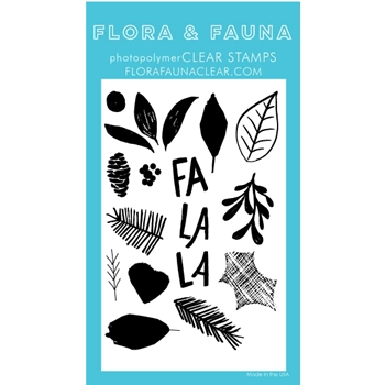 Flora and Fauna BRUSH POINSETTIA Clear Stamps 20262