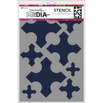 Dina Wakley LARGE MEDIEVAL CROSSES Media Stencil MDS68242
