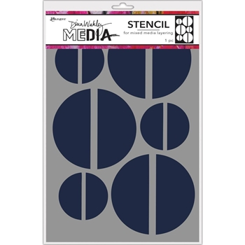 Dina Wakley LARGE HALVES Media Stencil MDS68235