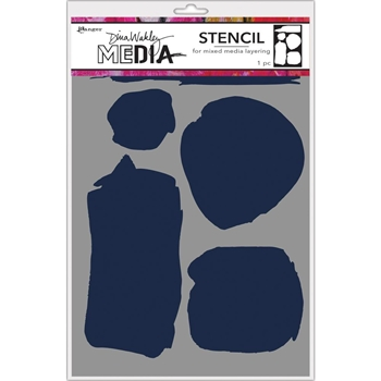 Dina Wakley UNEVEN SHAPES Media Stencil MDS68259