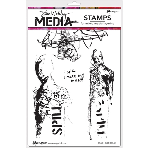 Dina Wakley I SPILL Media Cling Rubber Stamp MDR68587 Preview Image