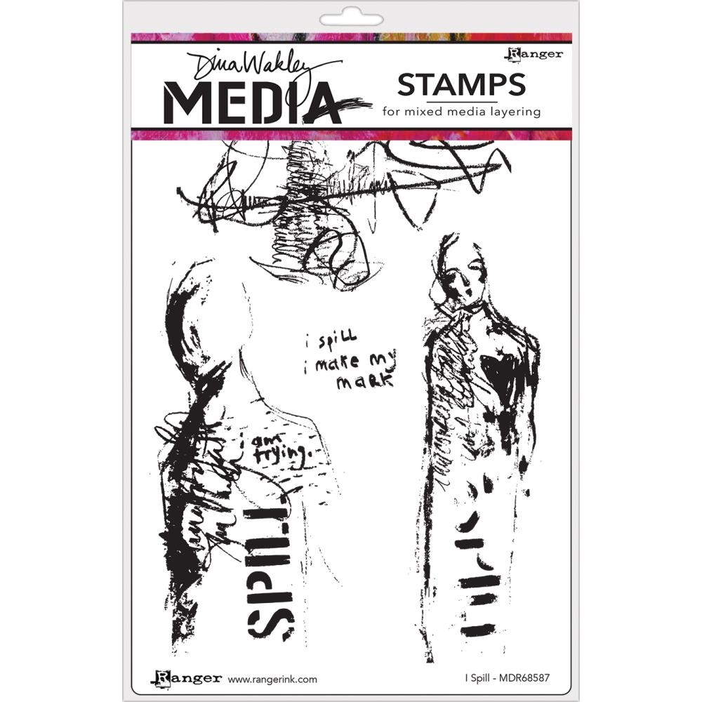 Dina Wakley I SPILL Media Cling Rubber Stamp MDR68587 zoom image