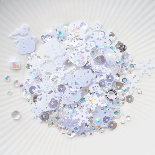 Little Things From Lucy's Cards FRESH SNOW Sequin Shaker Mix LB277 Preview Image