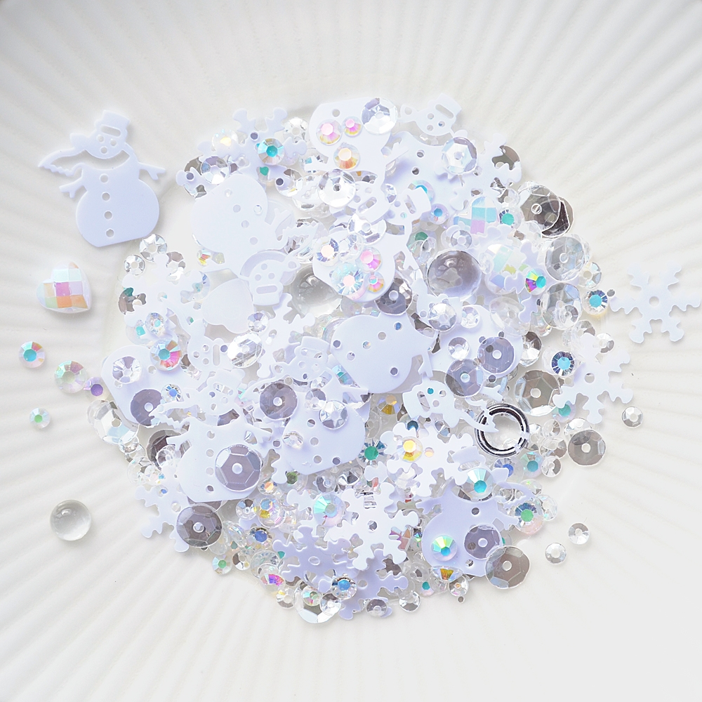 Little Things From Lucy's Cards FRESH SNOW Sequin Shaker Mix LB277 zoom image