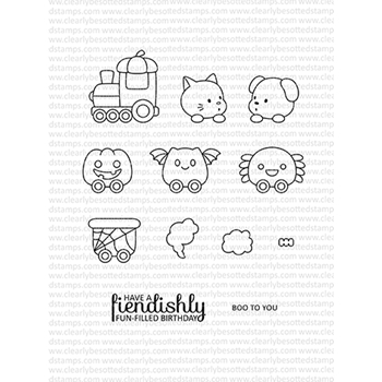 Clearly Besotted TRAIN OF TERROR Clear Stamps