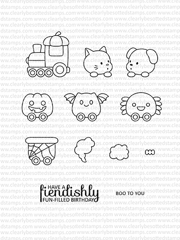 Clearly Besotted TRAIN OF TERROR Clear Stamps*  zoom image