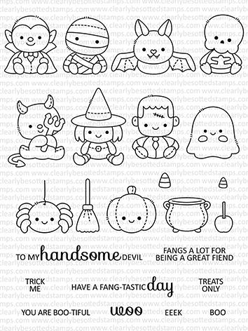 Clearly Besotted HALLOWEEN PLUSHIES Clear Stamps  Preview Image