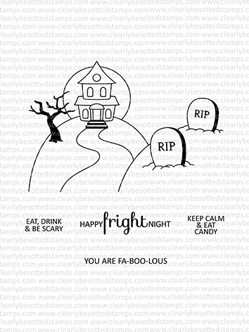 Clearly Besotted PICTURE IT HALLOWEEN Clear Stamps zoom image