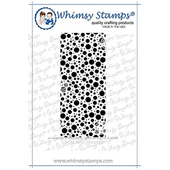Whimsy Stamps LOTS OF DOTS Background Cling Stamp DDB0032