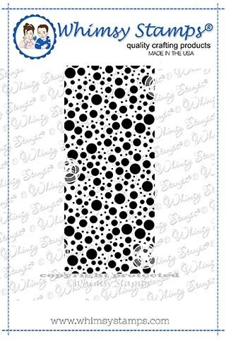 Whimsy Stamps LOTS OF DOTS Background Cling Stamp DDB0032 zoom image