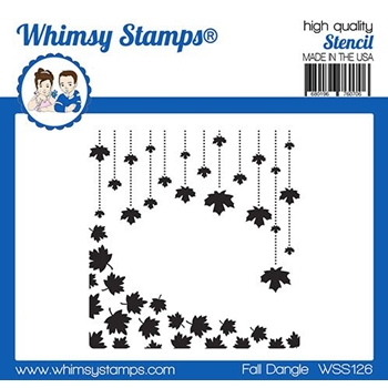 Whimsy Stamps FALL DANGLE Stencil WSS126