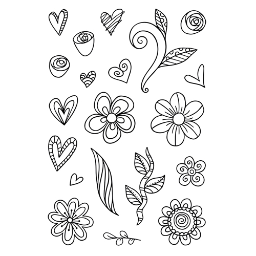 Tonic SILLY SCRIBBLES Clear Stamp Set 2932e Preview Image