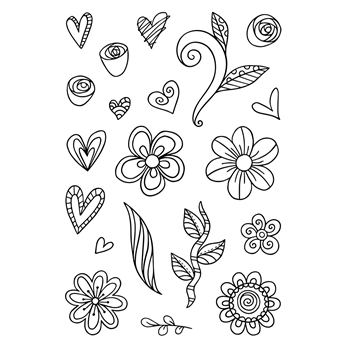 Tonic SILLY SCRIBBLES Clear Stamp Set 2932e