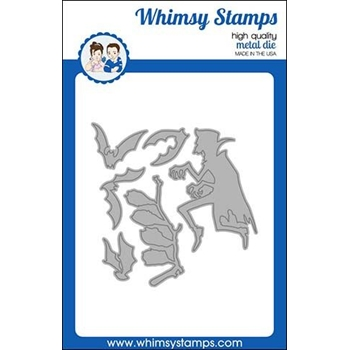 Whimsy Stamps DRACULA GOING BATTY Dies WSD406