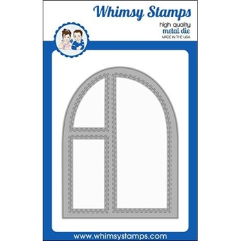 Whimsy Stamps ARCHED WINDOW A2 Dies WSD405