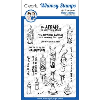 Whimsy Stamps CANDLE CREEPS Clear Stamps CWSD284