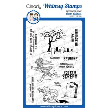 Whimsy Stamps HALLOWEEN SCREAM Clear Stamps CWSD151