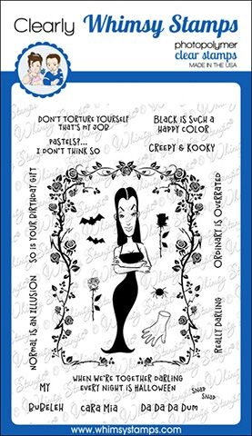 Whimsy Stamps MORTICIA Clear Stamps CWSD147* zoom image