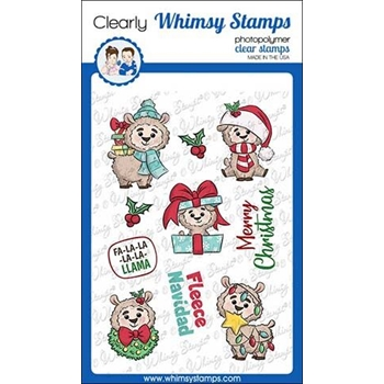 Whimsy Stamps FA LA LA LLAMA Clear Stamps KHB126