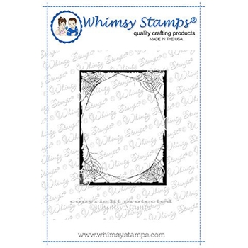 Whimsy Stamps SPIDER FRAME Cling Stamp DDB0030