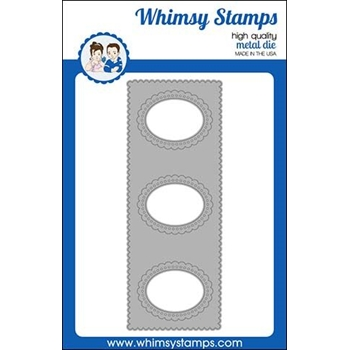 Whimsy Stamps SLIMLINE SCALLOP Die WSD408