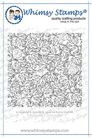Whimsy Stamps FALL LEAVES  Background Cling Stamp DDB0031 Preview Image