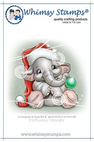 Whimsy Stamps ELLIES BAUBLE Clear Stamps C1345 Preview Image
