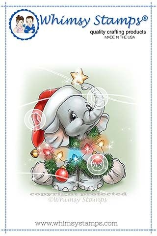 Whimsy Stamps ELLIES CHRISTMAS TREE Clear Stamps C1343 Preview Image