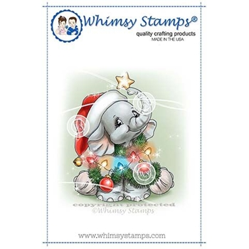 Whimsy Stamps ELLIES CHRISTMAS TREE Clear Stamps C1343